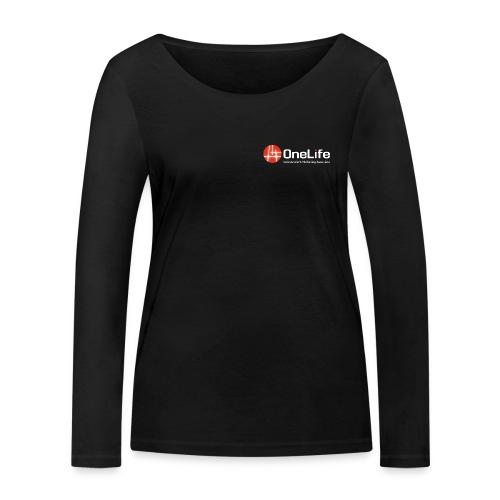onelife ima logo dark bac - Women's Organic Longsleeve Shirt by Stanley & Stella