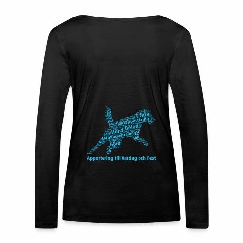 Apportering till vardag och fest wordcloud blått - Ekologisk långärmad T-shirt dam från Stanley & Stella