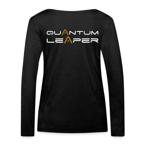 Quantum Leaper White - Women's Organic Longsleeve Shirt by Stanley & Stella