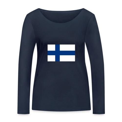 800pxflag of finlandsvg - Stanley & Stellan naisten pitkähihainen luomupaita