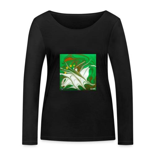 TIAN GREEN Mosaik CG002 - quaKI - Frauen Bio-Langarmshirt von Stanley & Stella