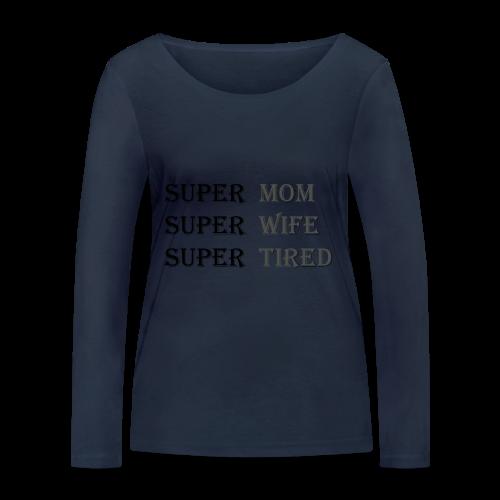Super Mamma Collection - Økologisk langermet T-skjorte for kvinner fra Stanley & Stella