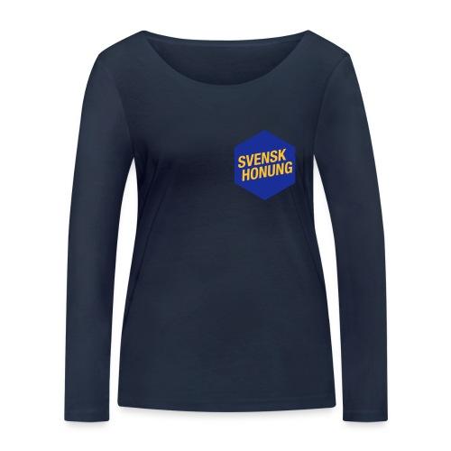 Svensk honung Hexagon Blå/Gul - Ekologisk långärmad T-shirt dam från Stanley & Stella