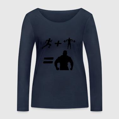 muskel man - Ekologisk långärmad T-shirt dam från Stanley & Stella