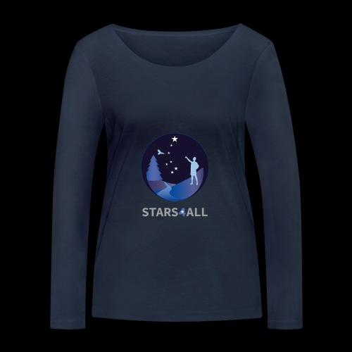 Stars4All - Camiseta de manga larga ecológica mujer de Stanley & Stella