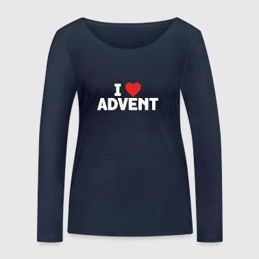 I Love Advent Christmas Season Countdown Calendar - Women's Organic Longsleeve Shirt by Stanley & Stella