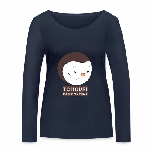 Tchoupi pas content ! - T-shirt manches longues bio Stanley & Stella Femme