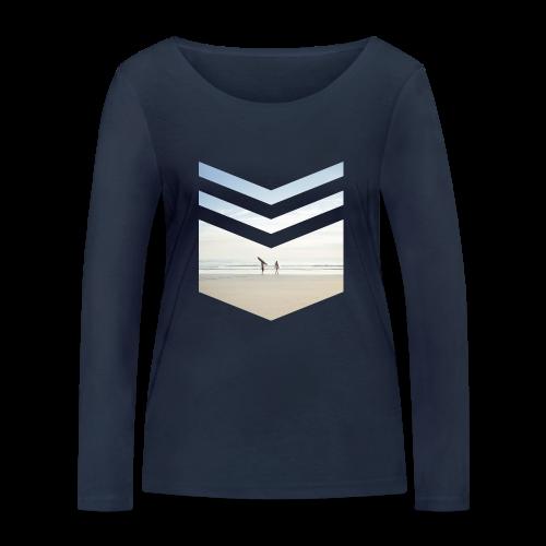 Surf Beach Triangle - Frauen Bio-Langarmshirt von Stanley & Stella