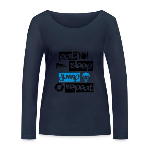 Eat Sleep Jump Repeat - Frauen Bio-Langarmshirt von Stanley & Stella