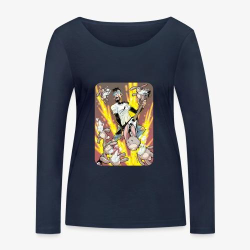 Leo Rock Bunny - Økologisk langermet T-skjorte for kvinner fra Stanley & Stella