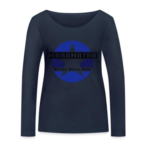 maranatha blau-braun - Frauen Bio-Langarmshirt von Stanley & Stella