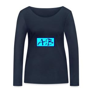 AtoB Logo light blue - Women's Organic Longsleeve Shirt by Stanley & Stella