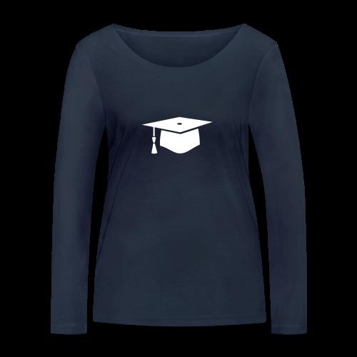einfacher Doktorhut - Geschenk zur Doktorarbeit - Frauen Bio-Langarmshirt von Stanley & Stella
