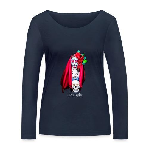 Catrina I love night - Camiseta de manga larga ecológica mujer de Stanley & Stella