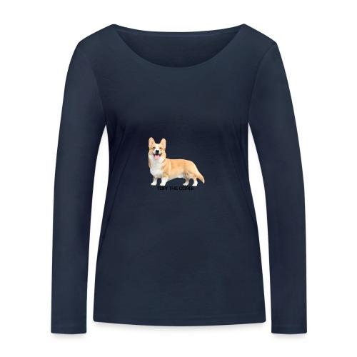 Topi the Corgi - Black text - Women's Organic Longsleeve Shirt by Stanley & Stella