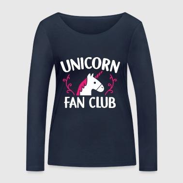 Unicorn Fan Club Fan Club jednorożce prezent - Ekologiczna koszulka damska z długim rękawem Stanley & Stella
