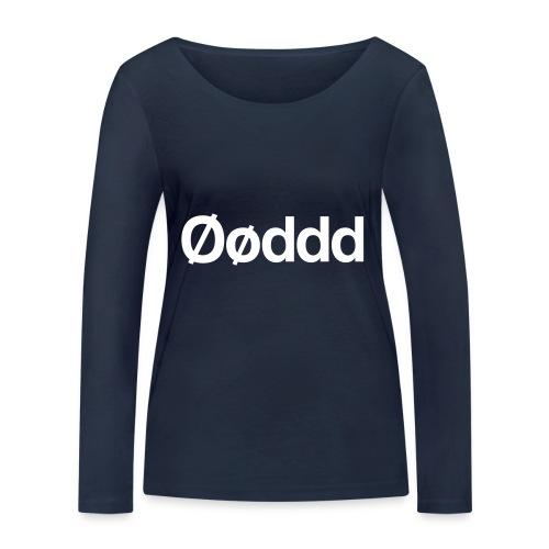 Øøddd (hvid skrift) - Økologisk Stanley & Stella langærmet T-shirt til damer