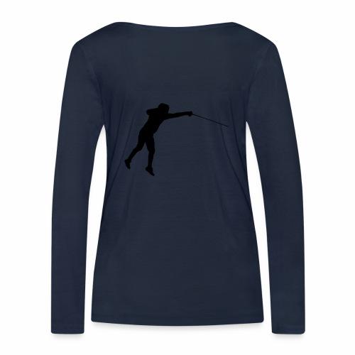 Jumping Fencer - Frauen Bio-Langarmshirt von Stanley & Stella
