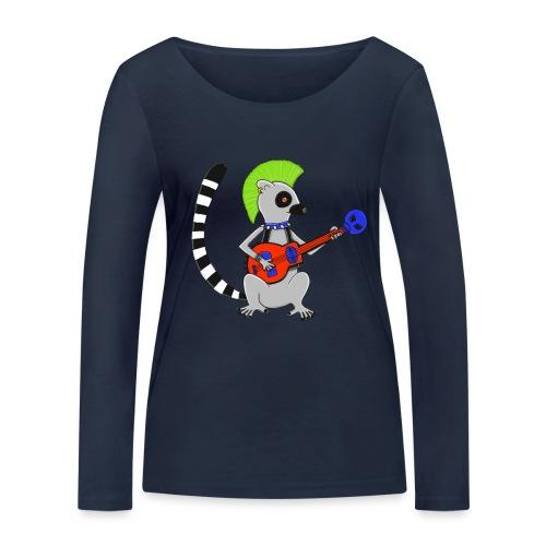 Katta-Punk - Frauen Bio-Langarmshirt von Stanley & Stella