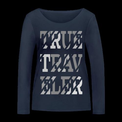 True Traveler Grey design - Stanley & Stellan naisten pitkähihainen luomupaita