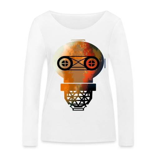 Old helmet with rust for diver or gas mask - Women's Organic Longsleeve Shirt by Stanley & Stella