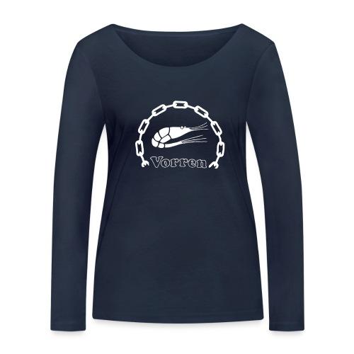 Vorren Logo CLASSIC [White] - Ekologisk långärmad T-shirt dam från Stanley & Stella
