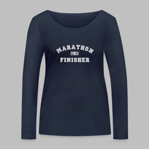 Marathon 42.195km Finisher Geschenkidee - Frauen Bio-Langarmshirt von Stanley & Stella
