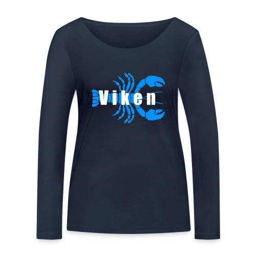 Vorren Logo HUMMERSÄSONG (Blå/Vit) - Ekologisk långärmad T-shirt dam från Stanley & Stella