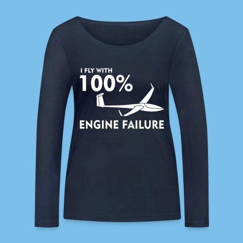 Motor Segelflugzeug lustig gleiten Segelflieger - Frauen Bio-Langarmshirt von Stanley & Stella