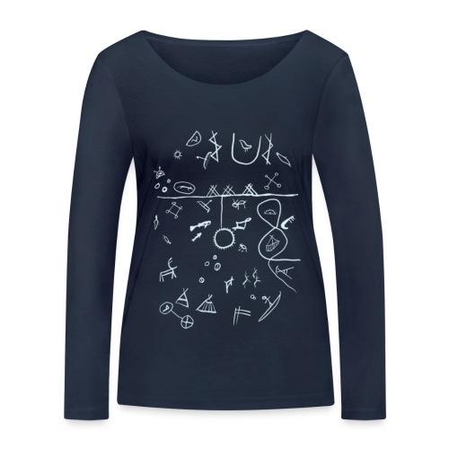 Runebomme - Økologisk langermet T-skjorte for kvinner fra Stanley & Stella