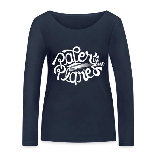 Paper Planes Logo Wit - Vrouwen bio shirt met lange mouwen van Stanley & Stella