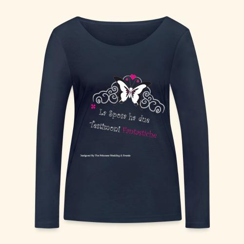 Testimoni Nozze - Maglietta a manica lunga ecologica da donna di Stanley & Stella