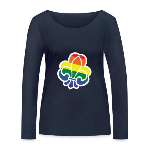 Regnbuespejder tilted - Økologisk Stanley & Stella langærmet T-shirt til damer