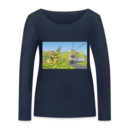 Raupe und Zug - Frauen Bio-Langarmshirt von Stanley & Stella