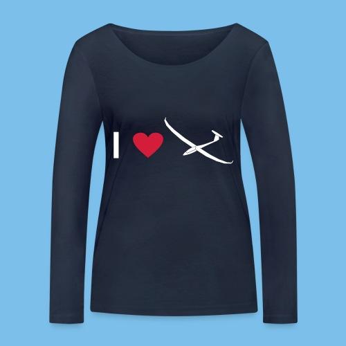 Ich liebe gleiten Segelflieger Segelflugzeug - Frauen Bio-Langarmshirt von Stanley & Stella