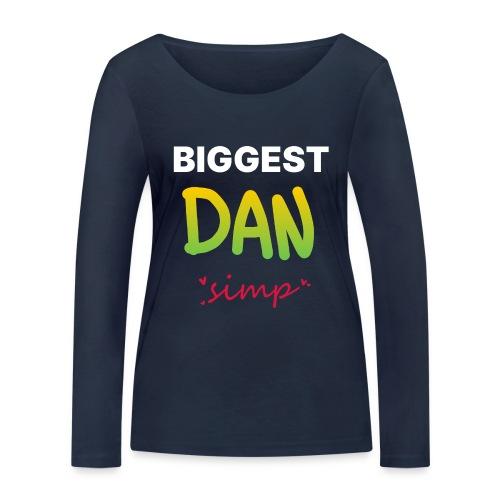 We all simp for Dan - Økologisk Stanley & Stella langærmet T-shirt til damer