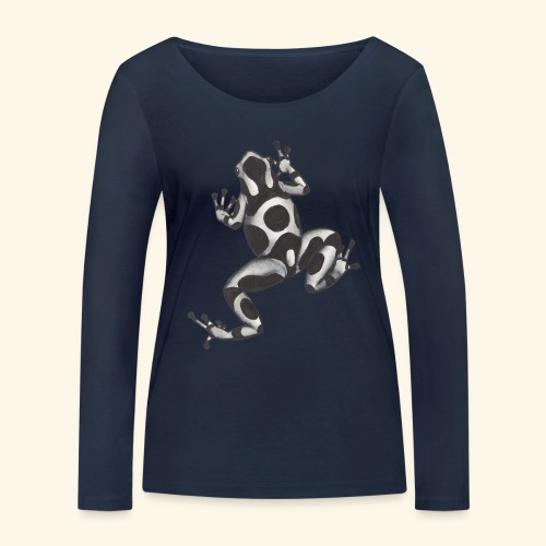 Svartvit groda - Ekologisk långärmad T-shirt dam från Stanley & Stella