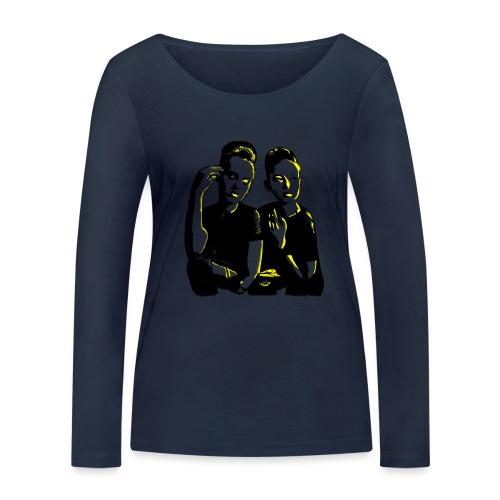 ATTITUDE<>WOKE (yellow) - Økologisk Stanley & Stella langærmet T-shirt til damer