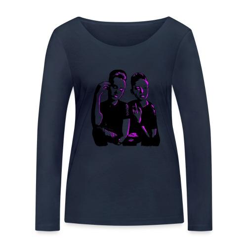 ATTITUDE<>WOKE (pink) - Økologisk Stanley & Stella langærmet T-shirt til damer