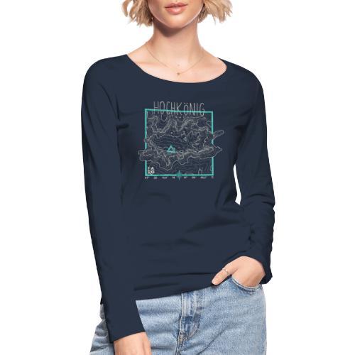Hochkoenig Contour Lines - Square - Women's Organic Longsleeve Shirt by Stanley & Stella