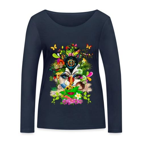 Parfum d'été by T-shirt chic et choc - T-shirt manches longues bio Stanley & Stella Femme