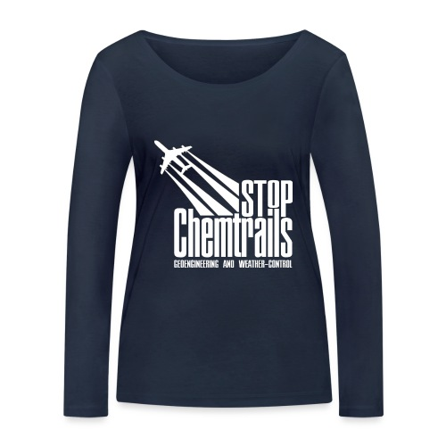 STOP CHEMTRAILS - white print - Vrouwen bio shirt met lange mouwen van Stanley & Stella