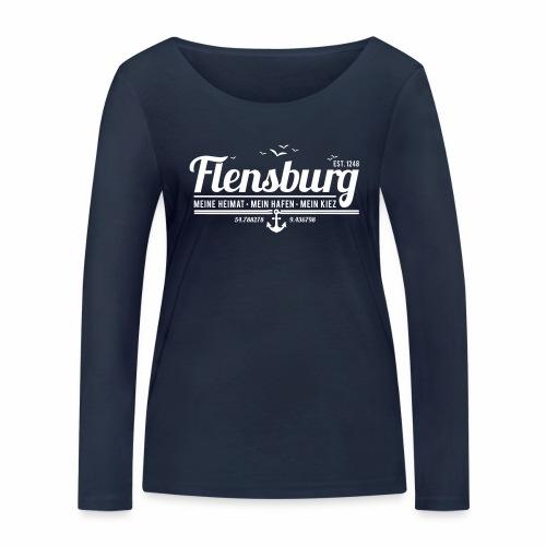 Flensburg - meine Heimat, mein Hafen, mein Kiez - Frauen Bio-Langarmshirt von Stanley & Stella