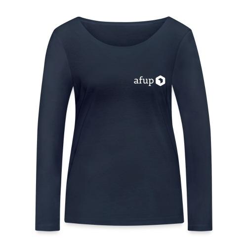 Le logo AFUP en blanc - T-shirt manches longues bio Stanley & Stella Femme
