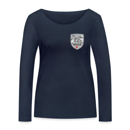 Eiger, Mönch und Jungfrau mit Mürren Flagge - Women's Organic Longsleeve Shirt by Stanley & Stella