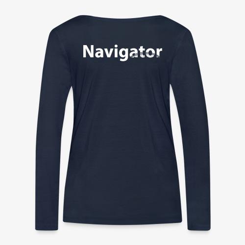 VIO en navigator wit - Vrouwen bio shirt met lange mouwen van Stanley & Stella