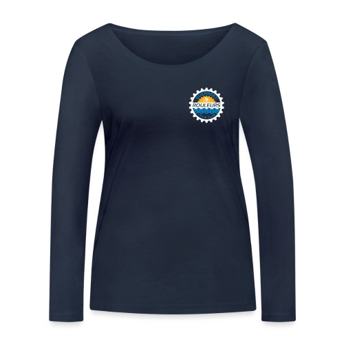 Guernsey Rouleurs Small Reversed Logo - Women's Organic Longsleeve Shirt by Stanley & Stella