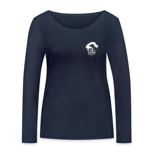 Sea of red logo - white small - Women's Organic Longsleeve Shirt by Stanley & Stella