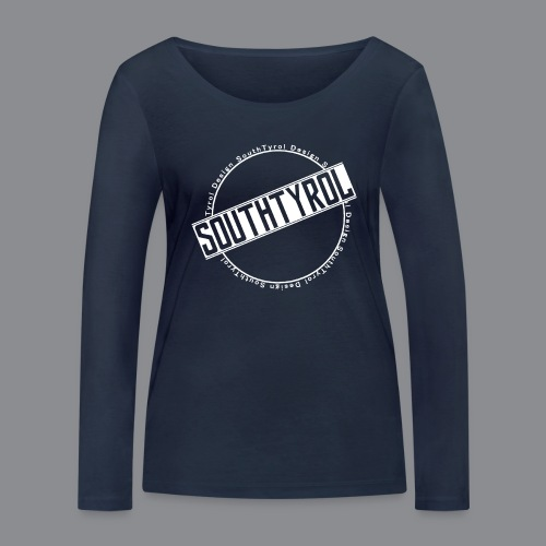 SouthTyrol Kreis weiß - Frauen Bio-Langarmshirt von Stanley & Stella