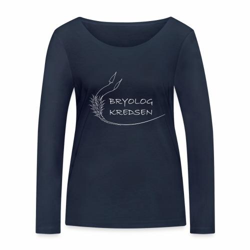 Bryologkredsen - hvidt logo - Økologisk Stanley & Stella langærmet T-shirt til damer